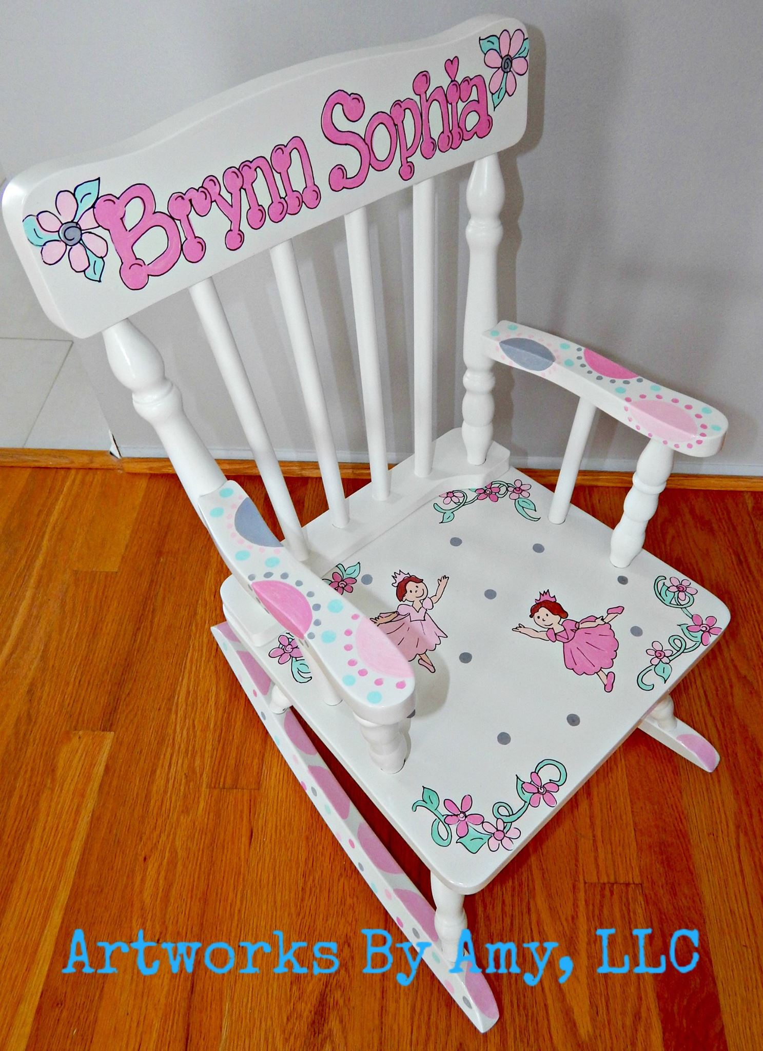 Childrens Hand Painted Rocking Chair