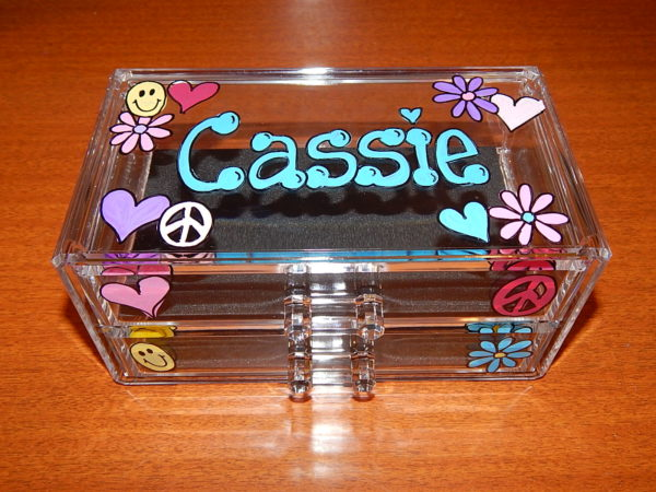 Peace Collage Acrylic Jewelry Box