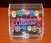 Peace Collage Earring Box