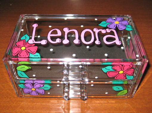 Flower Acrylic Jewelry Box