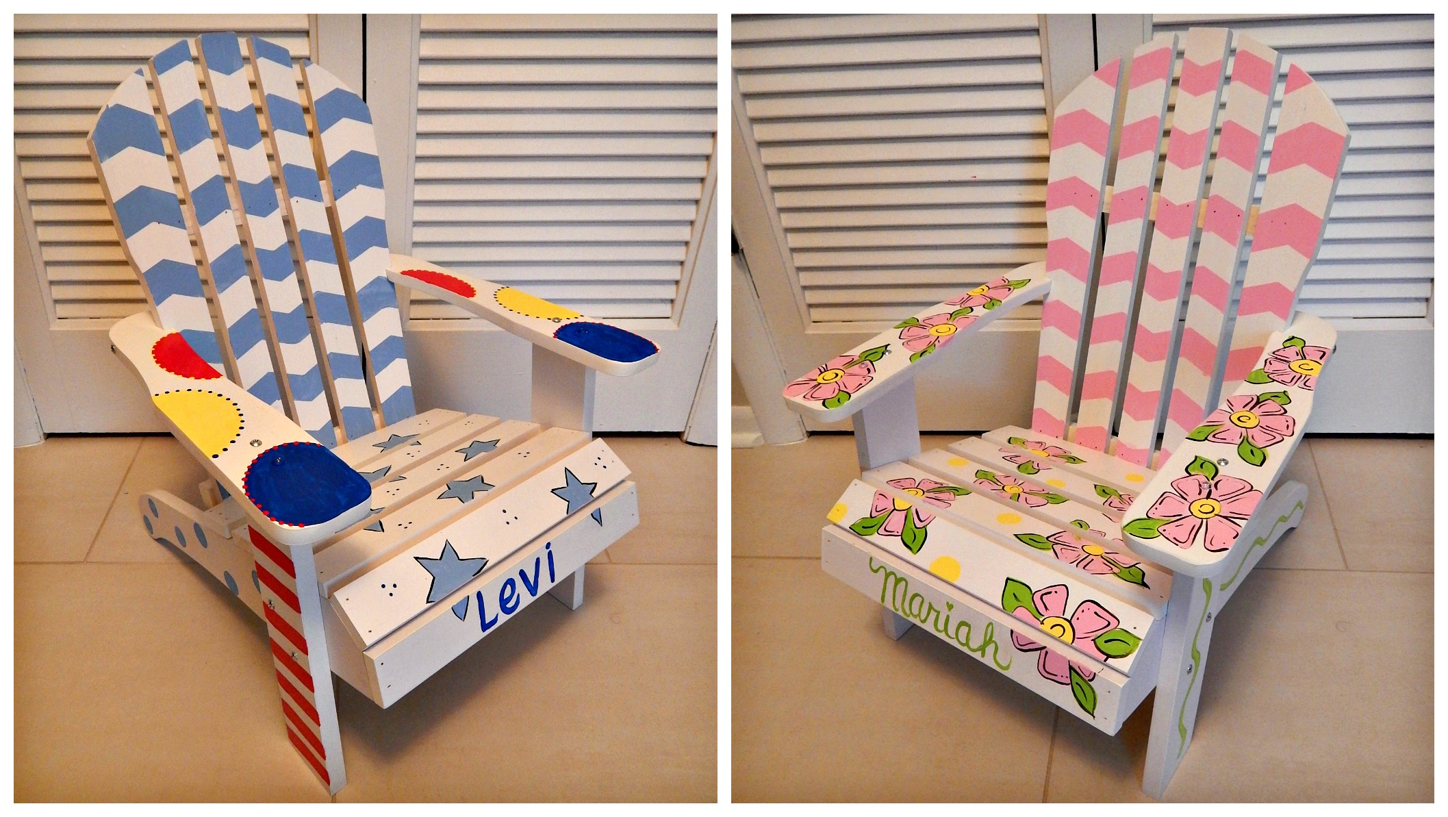 Hand Painted Children s Adirondack Chair Artworks By Amy