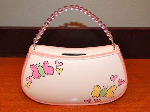 Purse Bank with Beaded Handle