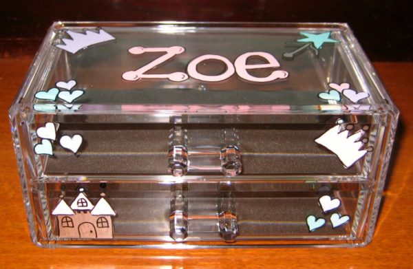 Princess Acrylic Jewelry Box