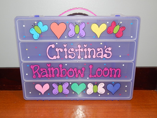 Butterfly and Heart Rainbowl Loom Box