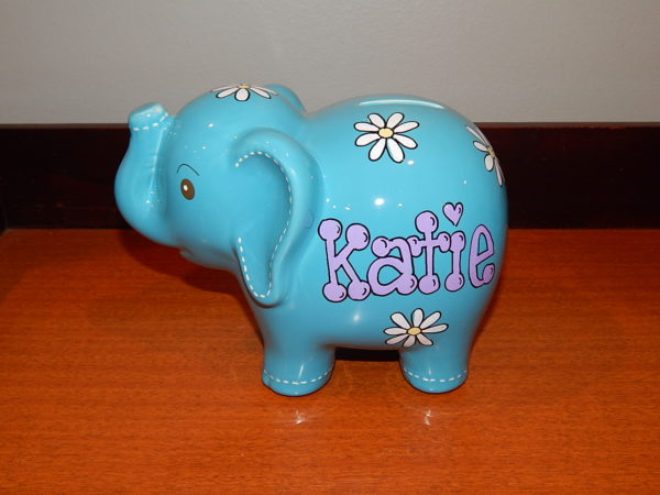 Tiffany Blue Elephant Bank