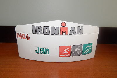 Triathlete Theme Acrylic Mail Envelope