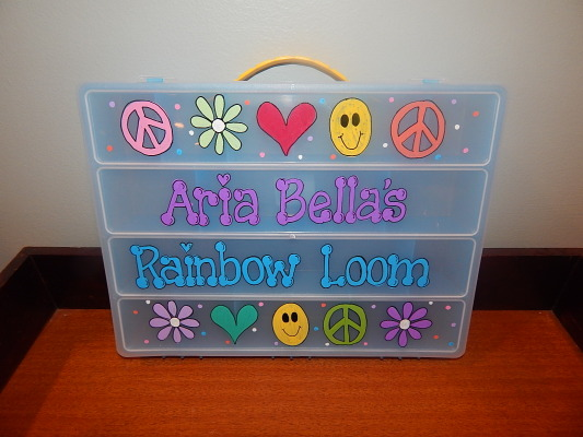 Peace Collage Rainbow Loom Box