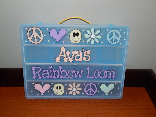 Pastel Peace Collage Rainbow Loom Box
