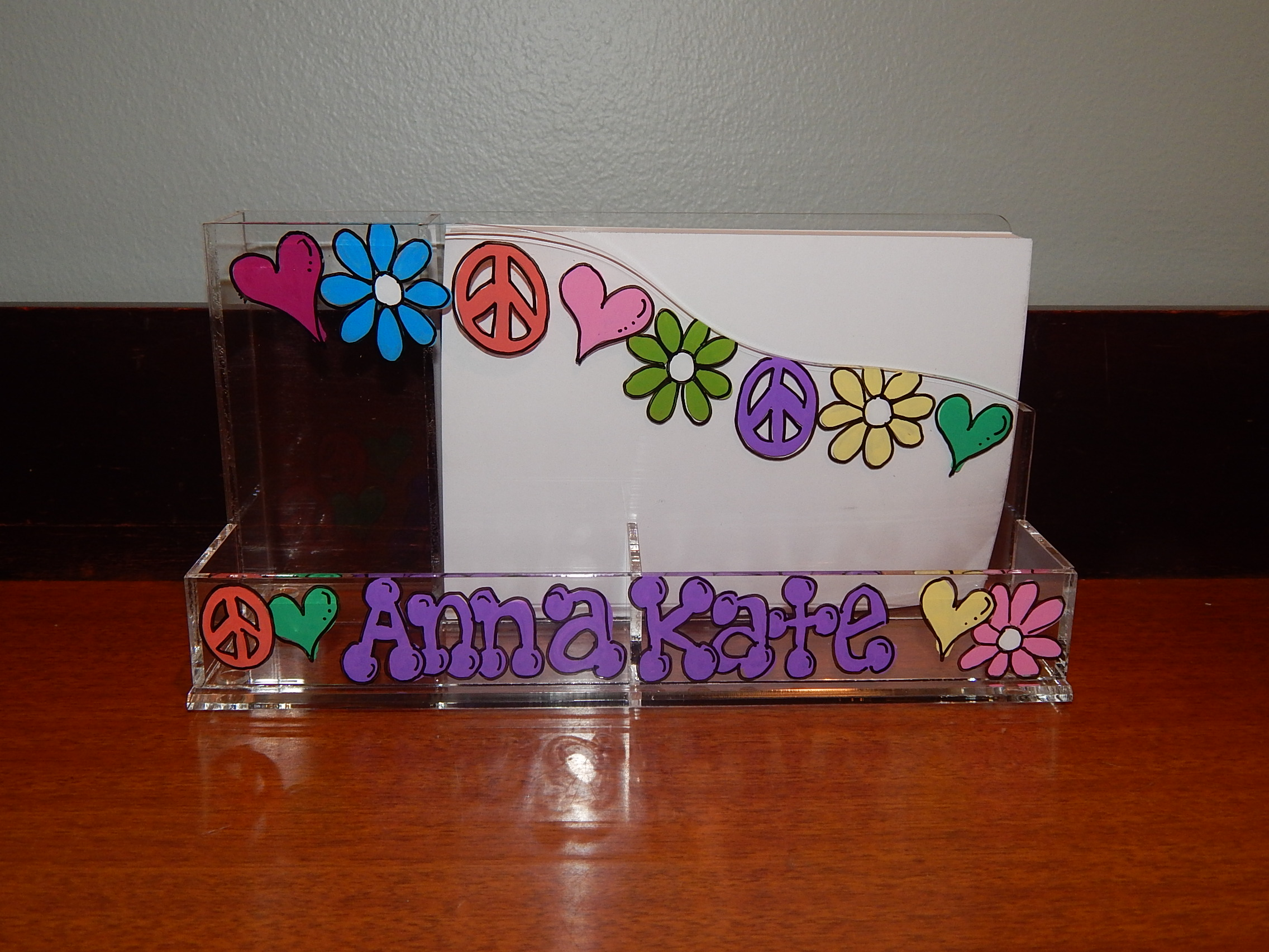 Peace Collage Desk Caddy