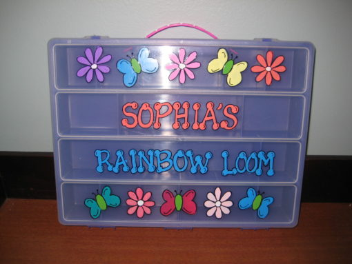 Flower and Butterfly Rainbow Loom Box