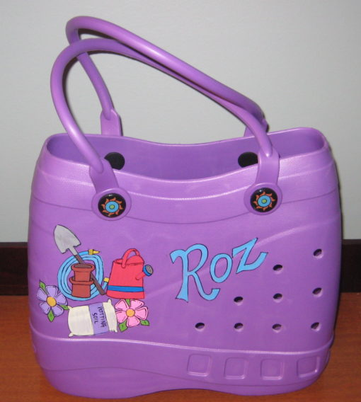 Garden Theme Purple Tote