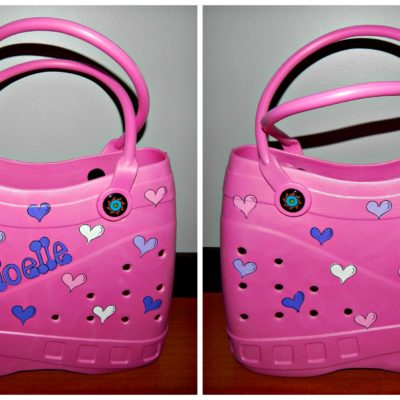 Pink Tote with Hearts