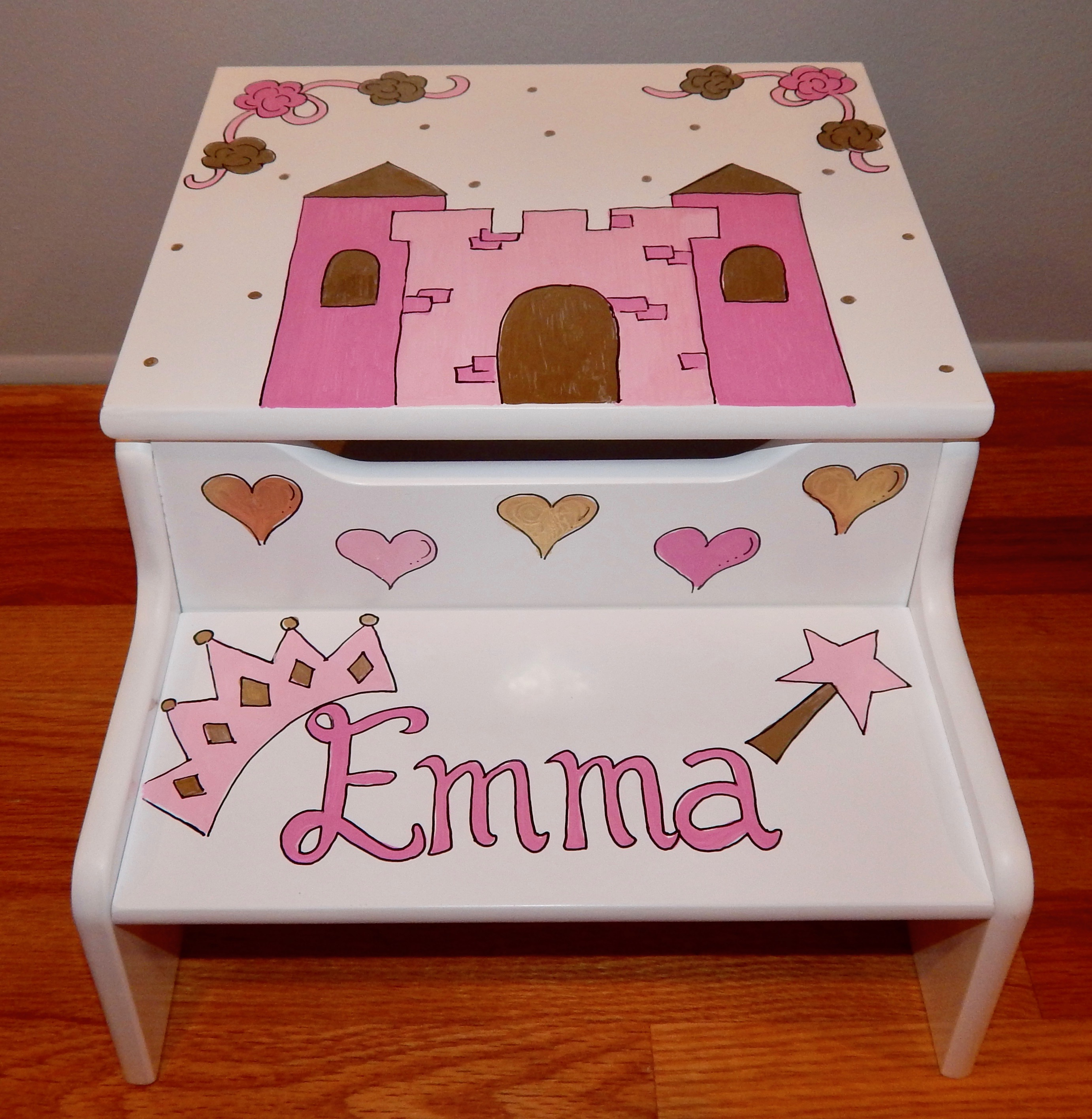 Brilliant Two Step Personalized Step Stool Machost Co Dining Chair Design Ideas Machostcouk