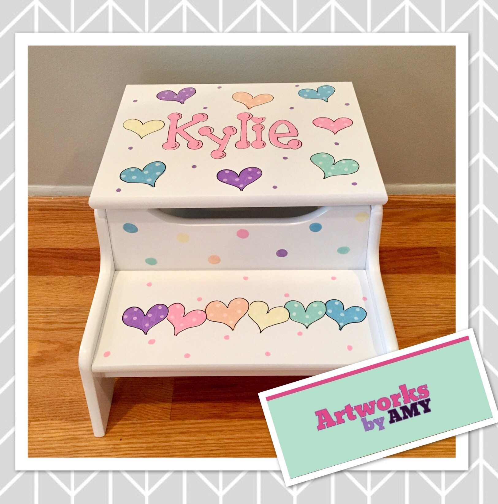 Terrific Two Step Personalized Step Stool Machost Co Dining Chair Design Ideas Machostcouk