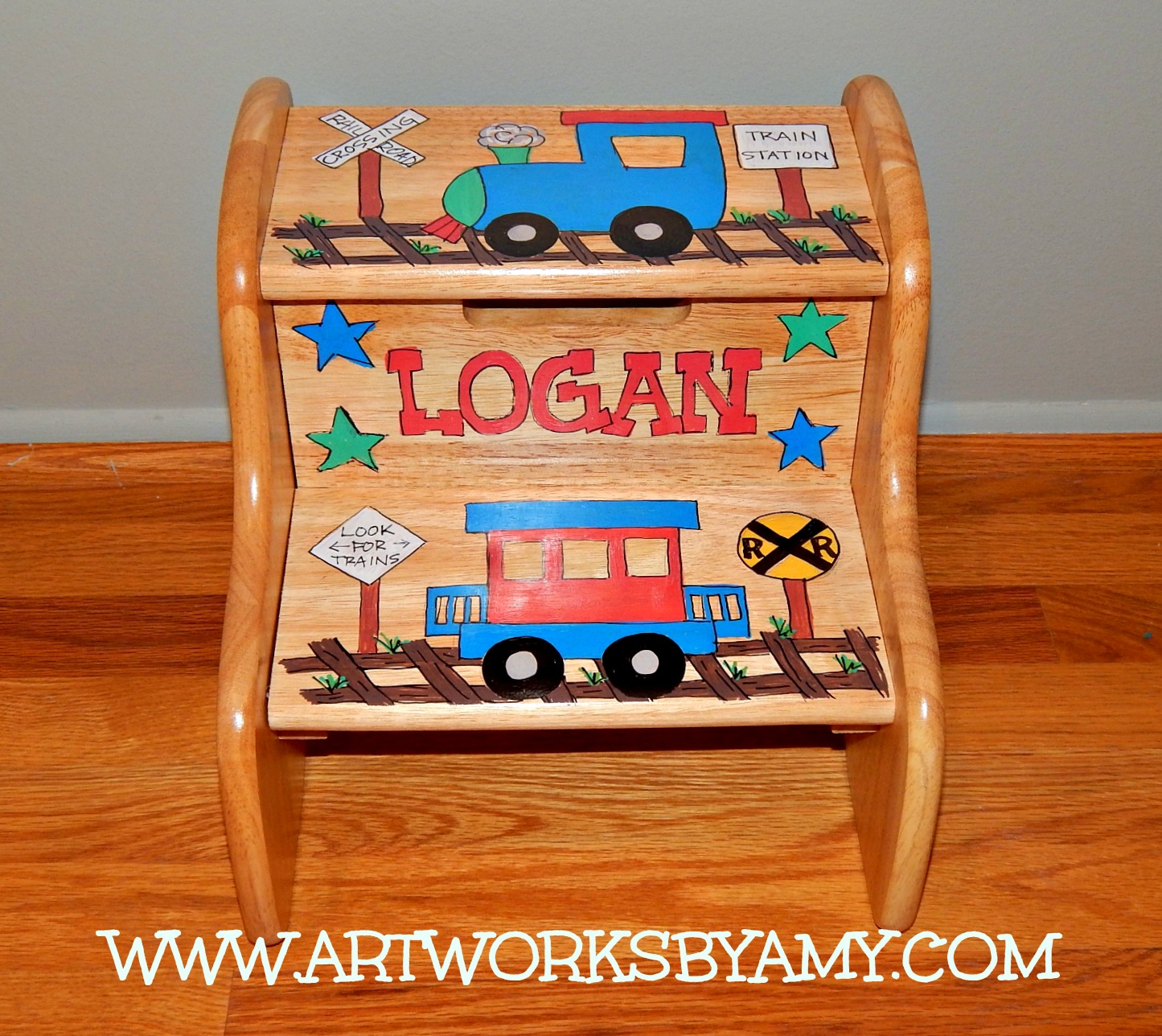 Two Step Personalized Step Stool & Two Step Personalized Step Stool - Artworks By Amy islam-shia.org