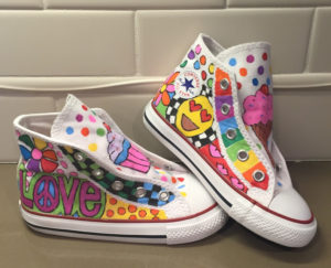 Pop Art Painted Sneakers