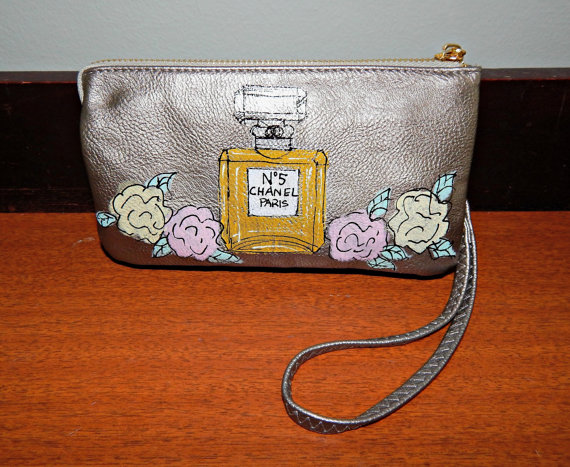 Pewter Wristlet with Perfume Bottle