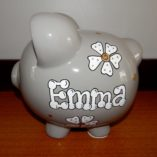 gray piggy bank