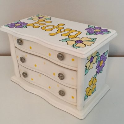 Three Drawer Box with Flowers